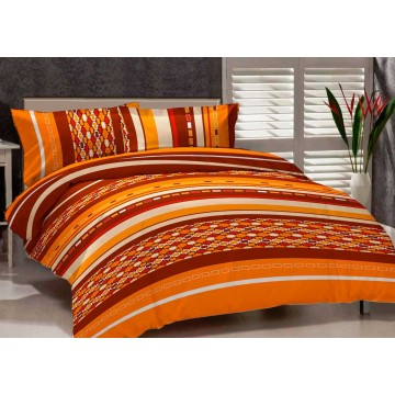 Lenjerie de pat Renforce City orange